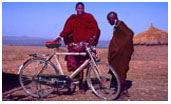 Maasai with bicycle ©claire foottit